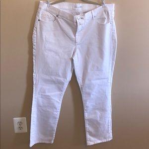 LOFT white denim straight cut. Size 16/33 Tall NWT